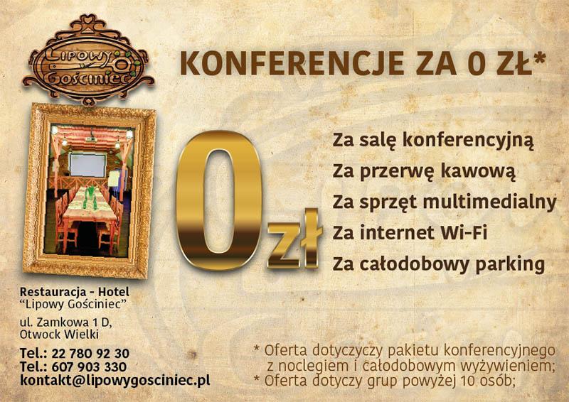 Konferencje za 0 zł!