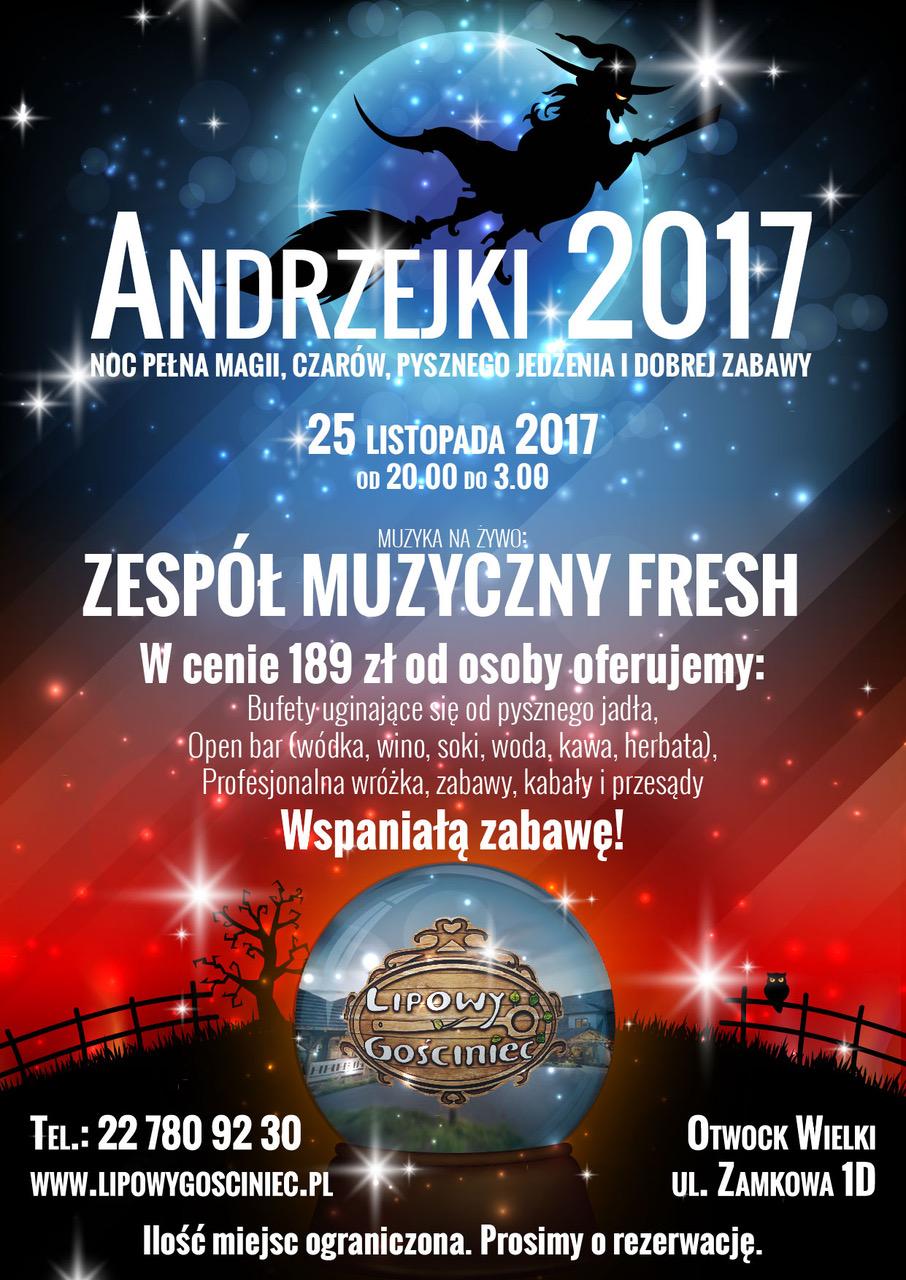 Andrzejki 2017 – 25 listopada 2017 r – SOBOTA